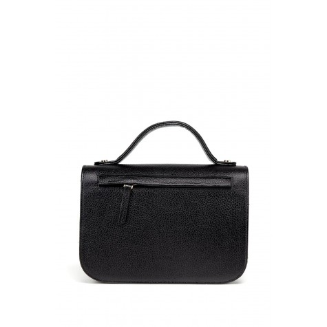 Genuine Leather Black Women's Handbag