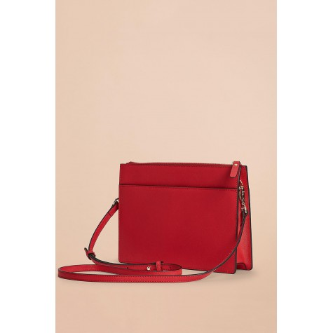 Women's Red Red Fleece Shoulder Bag