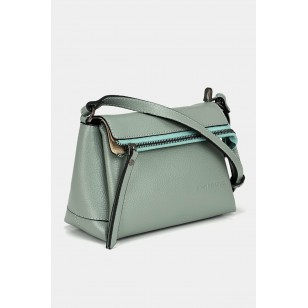 Hakiki Deri Yeşil Çanta&Aksesuar Mini (Çapraz) Çanta
