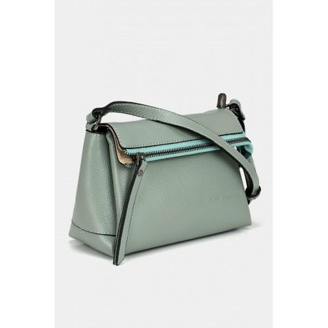 Genuine Leather Green Bag & Accessory Mini (Cross) Bag